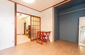 選べる・唯一のアパートタイプと、お部屋 広々4室のみの少人数シェアハウス