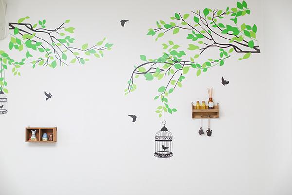 個室の壁紙
